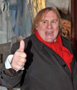 Gerard Depardieu...not as coy as the passenger from Upper Hutt.