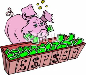 A_Pig_Eating_From_a_Trough_Royalty_Free_Clipart_Picture_100528-231845-487009