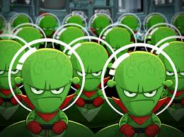 Can you blame them for looking unfriendly?  They heard Alf's idea of sending them some of our little green men.